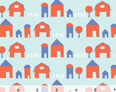Free Range  Little Farm  Organic Cotton Print by JAQSFabrics