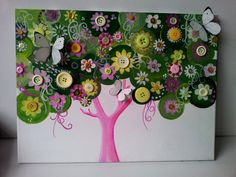 Custom Made Personalized Button Tree Baby by TryingNotToHibernate, £40.00