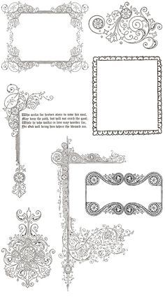 Set of 13 vector floral ornate border patterns with floral and free vintage ornament border frames stopboris