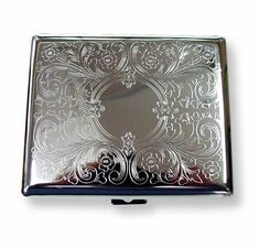 Etched Cigarette Case Kings & 100's