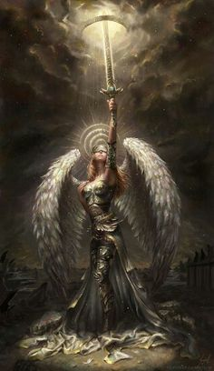 Random Fantasy/RPG artwork I find interesting,(*NOT MINE) from Tolkien to D&D.hope you enjoy it! Fantasy Warrior, Fantasy Girl, Warrior Angel, Fantasy Art Women, Fantasy Artwork, Fantasy Art Angels, Fantasy Creatures, Mythical Creatures, Ange Demon