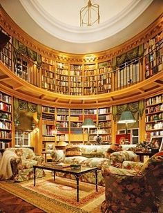 Oh. My. Word. Well this is what I call a library. I could imagine the selection of books available here.  WOW