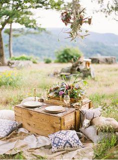 cute picnic setup