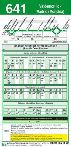 Autobus interurbano Madrid Valdemorillo 641 vuelta #MUN2asociacion