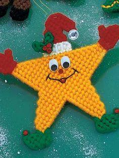 Plastic Canvas - Holiday & Seasonal Patterns - Christmas Patterns - Star Ornament
