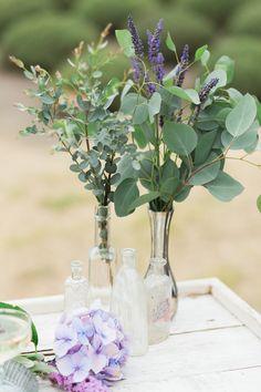 soft purple shabby chic wedding decor