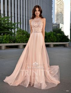 Evening dress by Alexandrina Formal Dresses For Women, Formal Evening Dresses, Homecoming Dresses, Bridesmaid Dresses, Prom, Pink Dress, Fashion Dresses, Gowns, Costumes