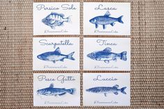 Cartoline artigianali in cianotipia 6 pezzi serie A
