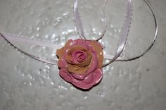 Pink beige Fairyrose Pendant by jamiebishop3 on Etsy, $15.00