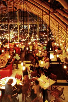 Sushisamba Restaurant in the Heron Tower. Get in the lift and look out across London. Careful though as it goes fast and high, so makes you feel a little wobbly.