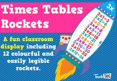 Times Tables Rockets - Classroom Display