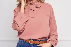 Bluza dama SunShine roz prafuit office scurta din voal cu croi larg si guler tip esarfa Athletic, Jackets, Fashion, Down Jackets, Moda, Athlete, Fashion Styles, Deporte, Fashion Illustrations