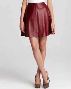 DKNYC - Leather Flare Skirt - $349.00 - Click on the image to shop now