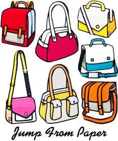 Jump From Paper cartoon purses