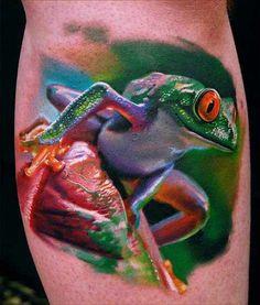 Tattoo, Frosch