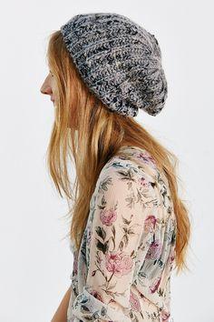 Lurex Slubby Beret Hat - Urban Outfitters