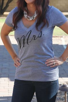 903e8f4ecaf Mrs. V Neck Shirt Sister Of The Groom