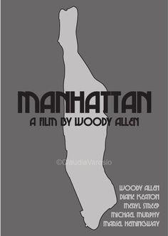 Manhattan (1979) - Minimal Movie Poster by Claudia Varosio #minimalmovieposter #alternativemovieposter #70smovies #ClaudiaVarosio
