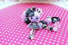 Creepy Cute Custom Made Lalaloopsy Necklace by kittywooddesigns, $33.00