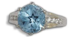 Star Topaz Diamond Channel Ring by C. Kirk Root Designs