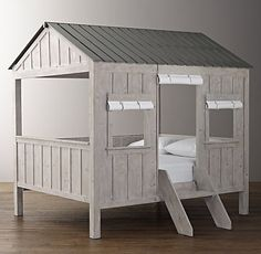 Cabin Bed. . . my grandbaby needs this. . .and it isn't even here yet. ;-)  Wait. . . maybe Meemaw wants it for herself. . .