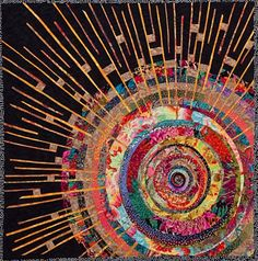 Paula Nadelstern from theMaterial Witnesses:New Work from the Manhattan Quilters Guild exhibit