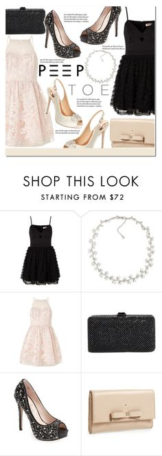 """Prom with Ariana Grande"" by igedesubawa ❤ liked on Polyvore featuring Lipsy, Carolee, Sondra Roberts, Lauren Lorraine, Kate Spade and Badgley Mischka"