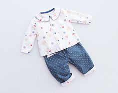 PROMO LITTLE STARS Set Shirt Pants Baby Boy Girl pattern Pdf sewing pattern, children babies, newborn 3 6 9 12 18 m and 1, 2, 3, 4, 5, 6 yrs