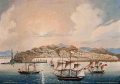 Ship Monterey of Boston Entering the Port of Genoa May 9th 1851, oil on canvas