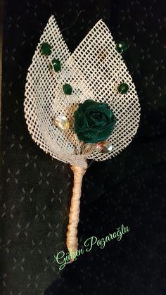 Tasarımımdır Erkek Ceket yaka Çiçeğim
