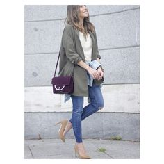Army Green V Neck Belt Coat (23 AUD) ❤ liked on Polyvore featuring outerwear, coats, green military coat, olive green coat, belt coat, olive coat and coat with belt