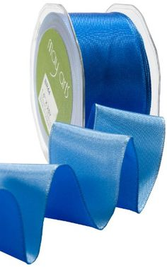May Arts 112Inch Wide Ribbon Blue and Light Blue Reversible ** You can get more details by clicking on the image.