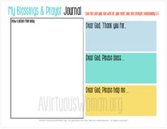 Free printable Blessings and Prayer Journal for Kids. perfect for daily use… Lessons For Kids, Bible Lessons, Prayers For Children, Kids Prayer, Teaching Religion, Bible School Crafts, Lesson Planner, Religious Education, Catechism