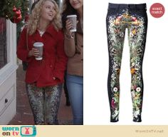Carrie's floral jeans on The Carrie Diaries. Outfit Details: http://wornontv.net/24472 #TheCarrieDiaries #fashion