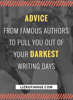 Find a famous author whose advice & quotes about writing & living a creative life speak to you. Find someone who can relate to the struggle of living creatively via @lizrufiange