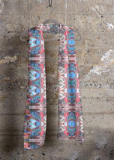 Cashmere Modal Scarf - Nubian Dream in Rainbow by VIDA Original Artist Signature Design, Fashion Labels, Floral Tie, Cashmere, Rainbow, Touch, Detail, Luxury, Clothing