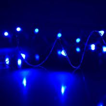 Wire / DIY / Craft / Hanging / String Lights / Blue Starry Fairy Dewdrop String Lights LI-1004-BL Battery Operated Lights, Battery Lights, Led Party Lights, String Lights, Sphere Light, Amazing Pics, Globe Lights, Paper Lanterns, Light Shades