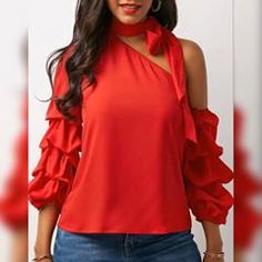 Paypal 🤝 #Valentine ✨ 💖 Code: PAYPAL14 💖 🎁 Over $50-$5, $75-$10, $100-$15  From 1.23 End 2.24 50th, Ruffle Blouse, Womens Fashion, Instagram, Clothing, Women's Fashion, Woman Fashion, Fashion Women, Feminine Fashion