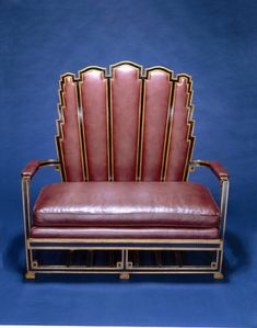 Settee, Art Deco settee, 1927. Leather, maple. Made by Abel Faidy, Chicago, Illinois. Chicago History Museum purchase.