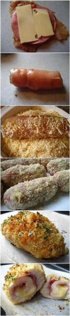 Baked Chicken Cordon Bleu - why didn't I think of this??