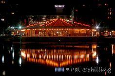 """Carrousel Reflections"". Spokane's Looff Carrousel in Riverfront Park. Photo © 2006 Pat Schilling.  www.patschilling.com"