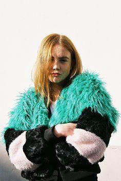TDS faux fur bomber jacket loveliness