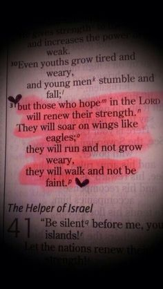 But those who hope in The Lord will renew their strength...