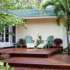 Stair / multi level deck idea