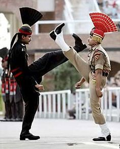 Wagah Border Ceremony near Amritsar - OMG shoes in the face, gotta see this ceremony some day