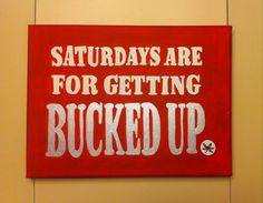 Saturdays are for getting bucked up  Ohio state ❤️ Buckeye nation ❤️ Painted canvas