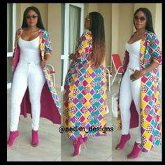 Latest Ankara Kimono Styles 2018 : Most Recent African Dresses, ankara styles, African Print Dresses, African Fashion Dresses, African Dress, Fashion Outfits, Fashion Styles, Fashion Ideas, African Prints, Fashion Tips, African American Fashion
