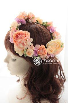 ロザリウム(Rosarium) アーティフィシャルフラワーの花冠