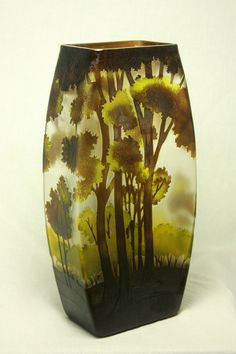 Antique Art Glass Vase by Emile Galle. Chair: More Like This At FOSTERGINGER  @ Pinterest