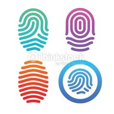 Arte vectorial : Fingerprint set. Brand Identity Design, Logo Design, Fingerprint Id, Logo Sketches, Balance Design, Home Logo, Photography Branding, Print Logo, Design Reference